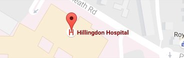 Map Hillingdon Hospital